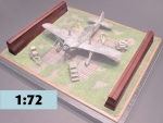 WW 2 Fighter wooden blast pen  1/72  LASERCUT