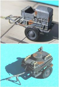 German Luftwaffe accumulator & oil-cart WW 2  scale 1/72