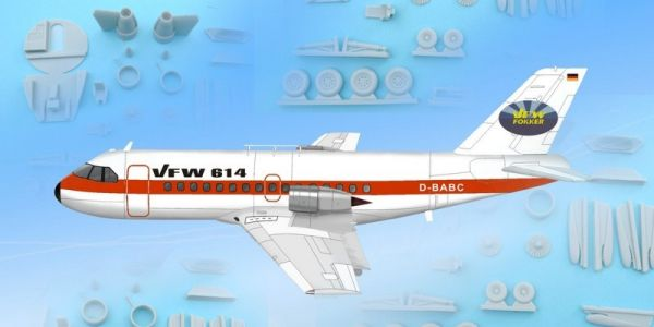 AM-351/BR  VFW-614 + Decal Prototyp + RESIN