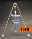 "1/48  ""Tripod"" Field-mounted crane Lw. WW 2   SET 1"