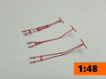 Tail Wheel Towbar    3 Sets  1/48