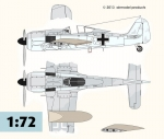 Fw 190 A-7  Slipper Tank  conversion  1/72